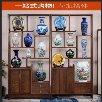 Jingdezhen ceramics vases, rich ancient frame furnishing articles of Chinese style living room decorations TV ark porch imitation antique decoration