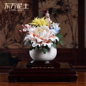Oriental Chinese style household soil sitting room porch place ceramic sculpture art/very beautiful decoration arts and crafts
