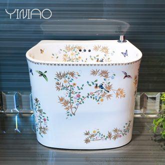 Million birds mop pool ceramic mop pool balcony household cleaning mop basin bathroom sink large toilet