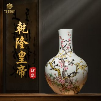 Better sealed kiln porcelain of jingdezhen ceramic antique hand-painted pastel home furnishing articles rich ancient frame big Chinese porcelain vase