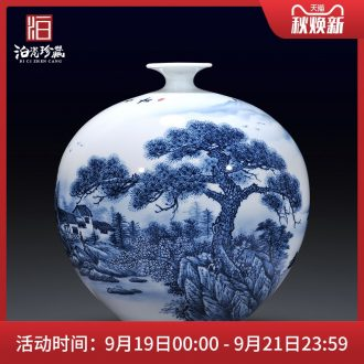 Jingdezhen ceramics hand-painted dried flowers of blue and white porcelain vases, TV ark new Chinese style sofa sitting room decorations furnishing articles