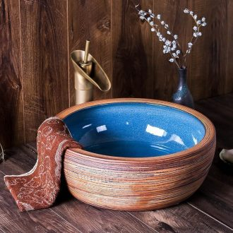 Wash face basin ceramic plate of jingdezhen circular basin that wash a face to wash your hands personality simple Chinese style hotel toilet stage basin