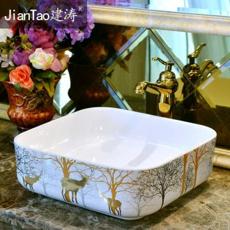 The stage basin sinks ceramic continental basin household toilet around the basin that wash a face shape toilet lavabo of art