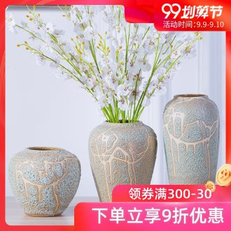 Jingdezhen ceramic vases, flower arranging coarse pottery flowerpot archaize porch China ceramic dry flower vases restoring ancient ways