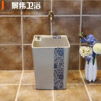 JingWei ceramic mop pool toilet automatic mop pool water wash mop the floor balcony basin water household balcony