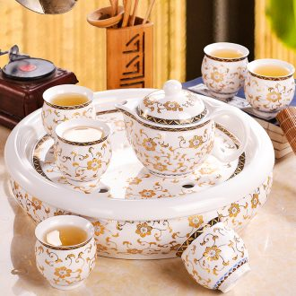 Tea set household contracted and contemporary sitting room of Chinese style restoring ancient ways from the jingdezhen ceramic teapot teacup tea tray
