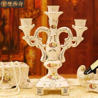The Vatican Sally's continental candlestick decoration luxury furnishing articles retro wedding chandelier candle power dinner props ceramic candle holders