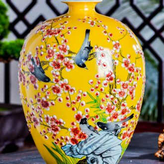 Jingdezhen ceramics vases, flower arrangement in modern Chinese style household sitting room porch dried flower adornment TV ark furnishing articles