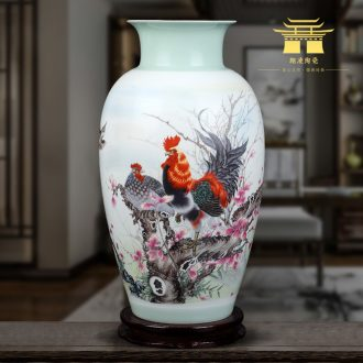 Jingdezhen ceramics vase furnishing articles sitting room flower arranging new Chinese style household TV ark decoration arts and crafts