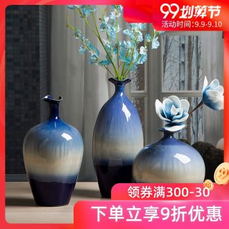 Porcelain vase furnishing articles flower arranging creative home sitting room adornment ins ceramic vase Europe type dry flower small mouth porcelain