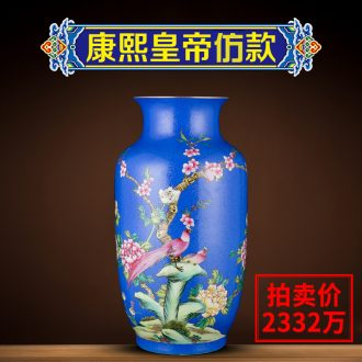 Better sealed kiln enamel furnishing articles of new Chinese style household jingdezhen ceramic vases, hand-painted handicraft sitting room adornment