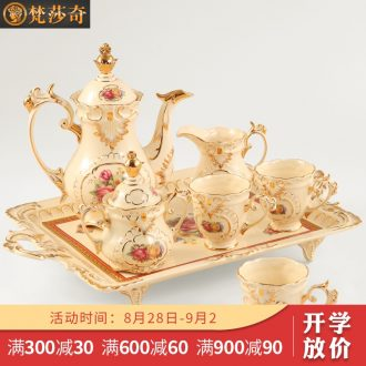 The Vatican Sally British tea set, ceramic coffee set luxury european-style coffee cups and saucers afternoon tea cups with tray