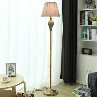 American ceramic vertical light floor lamp sitting room is the study of bedroom the head of a bed contracted and contemporary sofa tea table of remote control