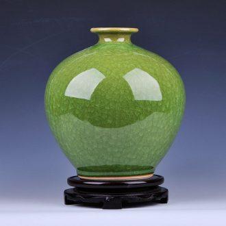 Archaize borneol jingdezhen ceramics kiln crack glaze pomegranate vase sitting room home decoration furnishing articles