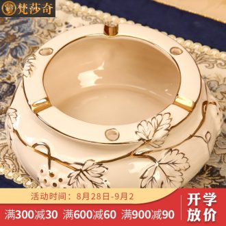 The Vatican Sally's European ceramic ashtray individuality creative and practical home sitting room tea table decoration luxury furnishing articles