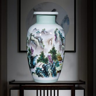 Jingdezhen ceramics powder enamel vase furnishing articles of modern Chinese style household adornment sitting room TV cabinet decoration flower arrangement
