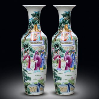 Jingdezhen ceramics hand-painted pastel the eight immortals at large figure sitting room of large vases, the hotel Chinese style household furnishing articles