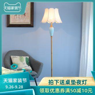 American contracted sitting room sofa floor lamp light study bedroom light luxury north European ceramic ins wind vertical desk lamp