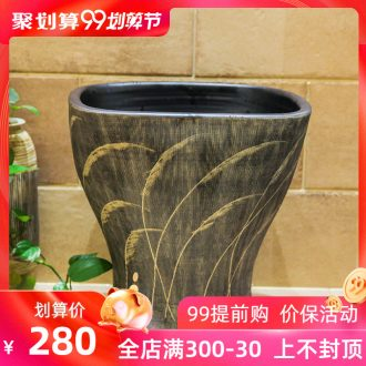 Ceramic balcony wash basin trough large mop mop pool mop pool toilet small household floor mop pool