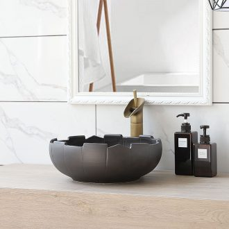 Basin round the sink ceramic art on the stage of household industry wind counters are simple retro basin washing a face plate