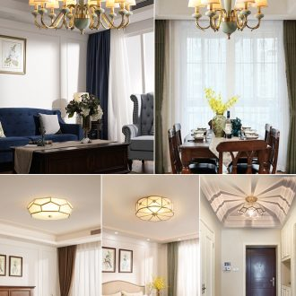 Combination of three room two hall Europe type lamps and lanterns of whole house meal sitting room dining-room contemporary and contracted bedroom set ceramic chandeliers
