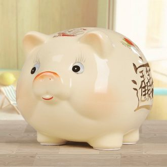 Preferable covered with ceramic piggy bank. Piggy bank boreal Europe style cute Chinese zodiac