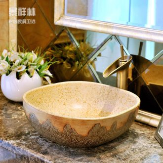 Basin ceramic art Europe type restoring ancient ways round table tub basin basin lavatory toilet hand basin
