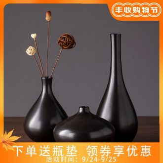 2019 new black ceramic vase zen contracted and contemporary sitting room TV ark of desk creative furnishing articles do the vase