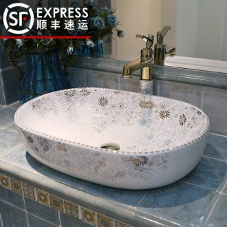 JingWei stage basin to the oval art ceramic lavatory toilet lavabo basin large size on stage