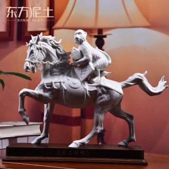 Oriental soil office business gifts dehua white porcelain sculpture art ceramic crafts/seal hou immediately
