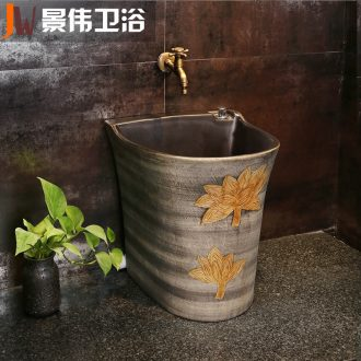 Restoring ancient ways is the balcony mop pool household mop pool ceramic mop mop pool toilet basin floor mop pool