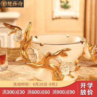 Vatican Sally's new European ceramic ashtray creative personality household large sitting room tea table ashtray decorative furnishing articles