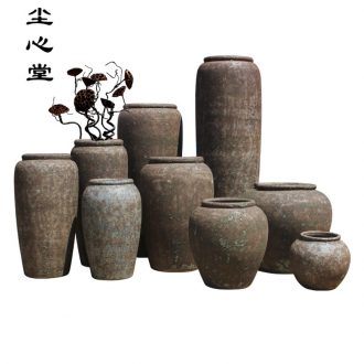 Dust heart thick clay restoring ancient ways do old ceramic vase landed a large flower pot landscape furnishing articles zen power POTS