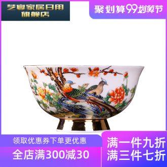 3 ql jingdezhen manual paint rice bowls plans ceramic bowl dishes foot rainbow noodle bowl soup bowl gift set bowl