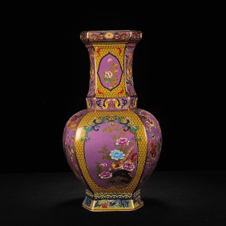 Jingdezhen ceramics high-grade imitation antique vase enamel powder enamel craft porcelain decorative furnishing articles