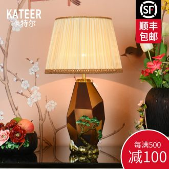 New Chinese style colored enamel porcelain lamp American Europe type restoring ancient ways the sitting room the bedroom villa luxury decorative lamps and lanterns of the head of a bed