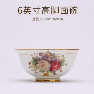 Bone China tableware dishes suit household portfolio european-style jingdezhen ceramic eat rice bowl dish dish plate parts