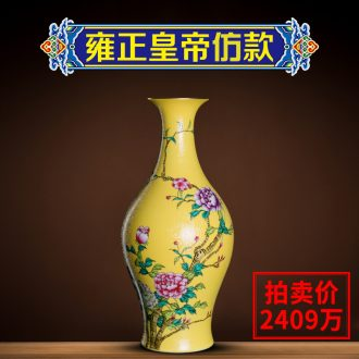 Better sealed kiln enamel new Chinese style home furnishing articles of jingdezhen ceramics big vase hand-painted porcelain rich ancient frame in the living room