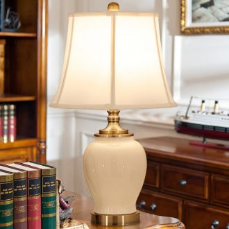 American ceramic desk lamp bedside lamp sitting room bedroom warmth to restore ancient ways the study American country desk lamp
