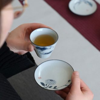 Drink to ceramic hand-painted insulation pad antique tea ceremony master mat saucer kunfu tea cups supporting Japanese