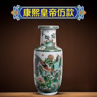 Better sealed kiln jingdezhen ceramic vases, new Chinese style furnishing articles decorative wooden stick bottle rich ancient frame study adornment ornament