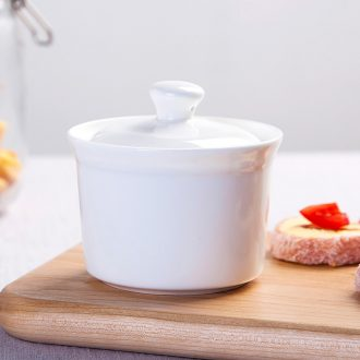 Jingdezhen healthy bone China isolate hose water stew seasoning cans ceramic cup bird's nest soup pot stew cup pure white