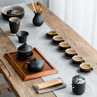 Hong bo acura ceramic tea set teapot tea cups kung fu tea set tea service of a complete set of zen suit household