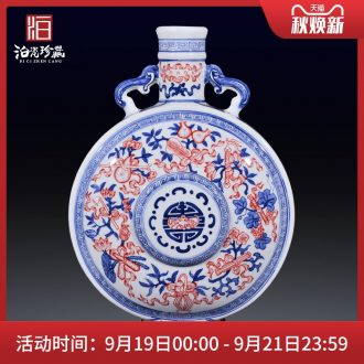 Jingdezhen ceramics hand-painted imitation qing qianlong youligong sweet vase on the living room and home furnishing articles