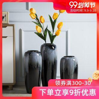 Jingdezhen ceramic vase landing flower arranging European contracted sitting room high gradient glaze vase large furnishing articles large vase