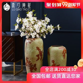Lou qiao jingdezhen large sitting room of large vase do old flower arranging porcelain clay furnishing articles archaize style restoring ancient ways