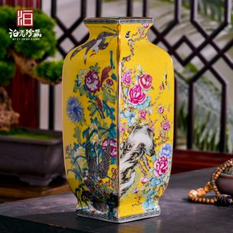 Jingdezhen ceramics imitation qing qianlong Chinese flower arranging the sitting room porch crafts home decoration vase furnishing articles