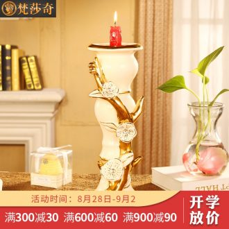 Vatican Sally's restoring ancient ways continental candlestick ceramic furnishing articles of luxury living room home decoration show decorations