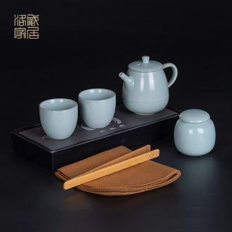 Your kiln travel open piece of kung fu tea set contracted ceramic tea tray home office can raise the teapot teacup