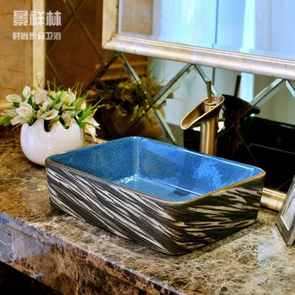 Ceramic art stage basin of rectangular basin European contracted lavatory toilet lavabo, the sink